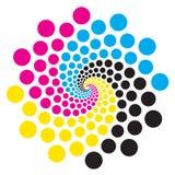 Kreis mit Schriftfarben Lizenzfreies Stockfoto
