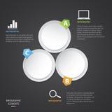 Kreis modernes Infographic lizenzfreie abbildung