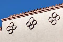 Kreis-Muster auf Gebäude Lizenzfreie Stockbilder