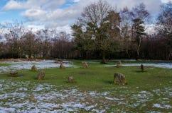 Kreis neun Damen-Stome auf Stanton Moor lizenzfreies stockbild