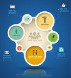 Kreis-Papier infographics des Vektors abstraktes Stockfoto