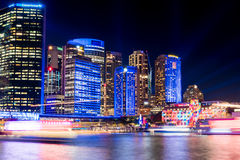 Kreis-Quay während klaren Sydney Festivals Stockbilder