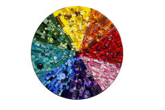 Kreis-Regenbogen-Mosaik Stockfotos