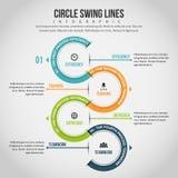 Kreis-Schwingen-Linien Infographic Stockfotografie