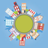 Kreis-Stadt vektor abbildung