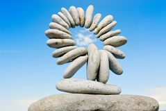 Kreis von den Steinen Stockfotografie