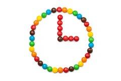 Kreis von farbigen Süßigkeiten Lizenzfreie Stockfotos