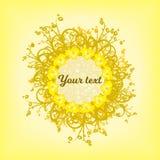 Kreis von gelben Hintergrundmustern stockfotos
