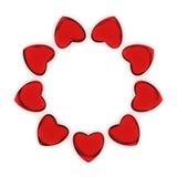 Kreis von Herzen Stockbilder