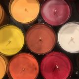 Kreis von Kerzen lizenzfreie stockbilder