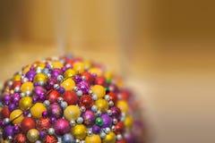 Kreis von Weihnachtsbällen Stockfotografie