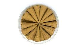 Kreis von Weihrauch-Kegeln im Kasten lizenzfreies stockfoto