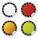 Kreisaufkleber mit Sternen, Farben Lizenzfreies Stockfoto