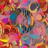 Kreisball, der nahtloses Muster laufen lässt Stockbilder