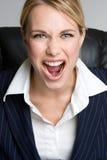 Kreischen der Geschäftsfrau Lizenzfreies Stockfoto