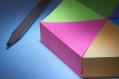 Kreisdiagramm 3D und Bleistift Lizenzfreie Stockfotos