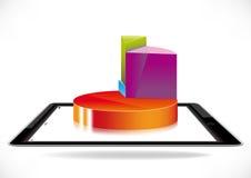 Kreisdiagramm auf Tablette Lizenzfreie Stockfotos