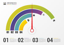 Kreisdiagramm-Kreis-Diagramm Moderne Infographics-Design-Schablone Vektor Lizenzfreie Stockfotos