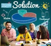 Kreisdiagramm-Lösungs-Ideen-Entwicklungs-Verbesserungs-Konzept Lizenzfreie Stockfotos