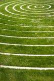Kreise auf einem grünen Gebiet stockfotos