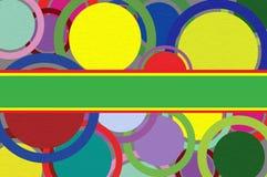 Kreise auf einem Papierhintergrund. Lizenzfreie Stockbilder