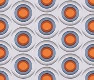 Kreise 3D, Vector nahtloses Muster Stockfoto