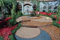 Kreise im Garten. Stockfoto