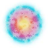 Kreise, Punkte, abstraktes Hintergrundmuster des Regenbogens Stockfoto