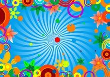 Kreise und Blumen Vektor Abbildung