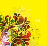 Kreise und Blumen Stockbilder