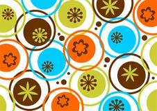 Kreise und Blumenmuster Stockfoto