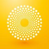Kreise von weißen Quadraten Lizenzfreie Stockfotografie