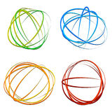 Kreisen Sie Gestaltungselement mit gelegentlichem Oval, Ellipsenformen ein lizenzfreie abbildung
