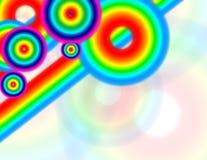 Kreisen Sie Regenbogen-Zeichen ein Stockbild