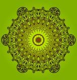 Kreisen Sie Verzierung, dekorative runde Spitze ein. Stockbild