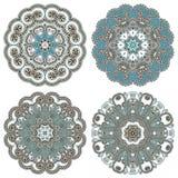 Kreisen Sie Verzierung, dekorative runde Spitze ein Stockfotos