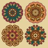 Kreisen Sie Verzierung, dekorative runde Spitze ein Stockfotografie