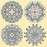 Kreisen Sie Verzierung, dekorative runde Spitze ein Lizenzfreies Stockbild