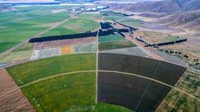 Kreiserntefelder gesehen von oben stockfoto