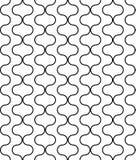 Kreisförmige geometrische Zahlen Verzierungsmusterdesign des nahtlosen Vektors Lizenzfreie Stockfotografie