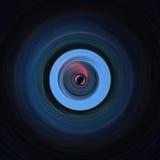 Kreisförmige kontrastierende schwarze und blaue Kunst Lizenzfreies Stockbild
