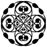 Kreisförmige schwarze weiße Kunst Lizenzfreies Stockfoto