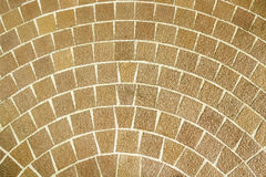 Kreisförmiger brauner Ziegelstein, der Muster pflastert Lizenzfreies Stockbild