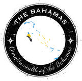 Kreisförmiger patriotischer Ausweis Bahamas Stockfotos