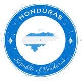 Kreisförmiger patriotischer Ausweis Hondurass Stockbild