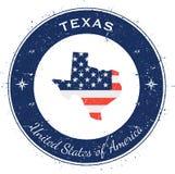 Kreisförmiger patriotischer Ausweis Texas Lizenzfreies Stockfoto