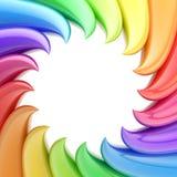 Kreisförmiges abstraktes Feld gebildet von den wellenförmigen Elementen Lizenzfreies Stockfoto