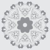 Kreisförmiges abstraktes Muster in der arabischen Art Stockfoto