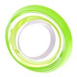 Kreisfeld gebildet von den grünen Ringen getrennt Stockbild