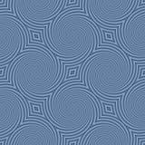 Kreisformen schafft ein interessantes nahtloses blaues Muster Stockbild